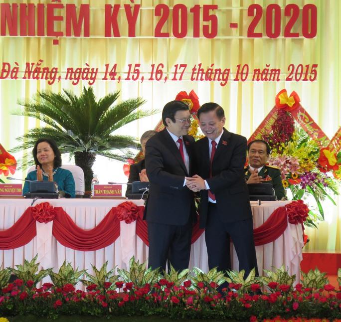 Đồng chí Trần Thọ, Bí thư Thành ủy Đà Nẵng, cảm ơn những phát biểu chỉ đạo Đại hội của chủ tịch nước Trương Tấn Sang.