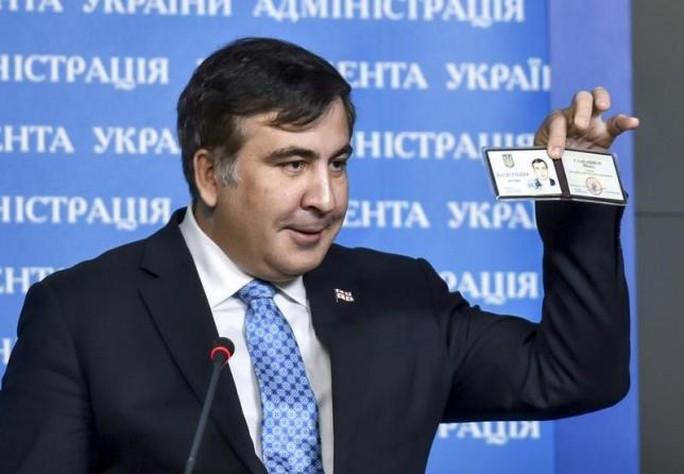 Quốc tịch của cựu Tổng thống Georgia đã bị hủy. Ảnh: Reuters