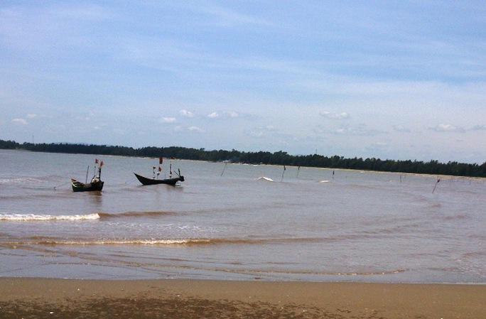 Khu vực biển xã Quảng Vinh, nơi xảy ra sự việc nữ sinh 14 tuổi chết đuối khi tắm biển