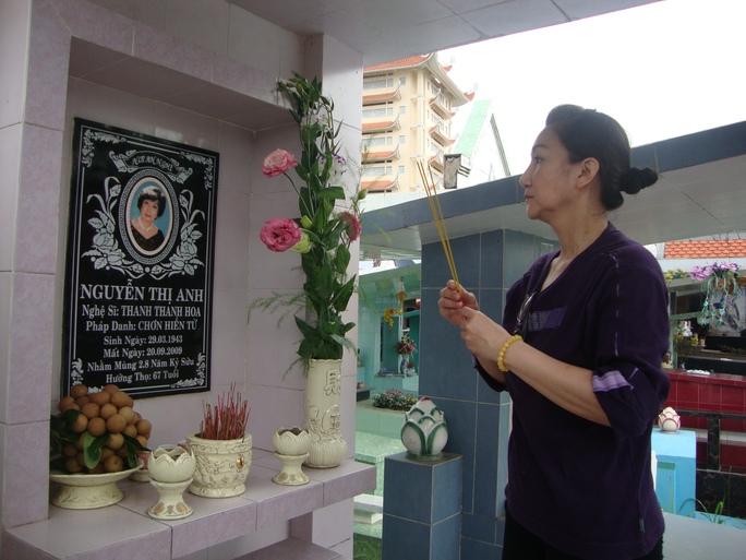 NS Thanh Thanh Tâm về viếng mộ mẹ năm 2014