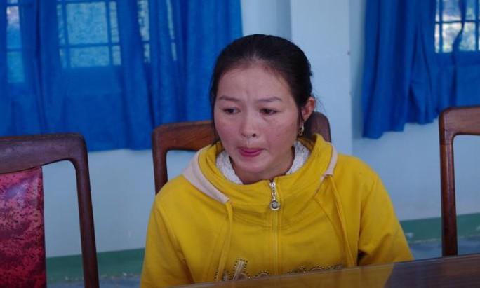 Nguyễn Thị Du khi bị bắt. Ảnh: Công an tỉnh Kon Tum cung cấp