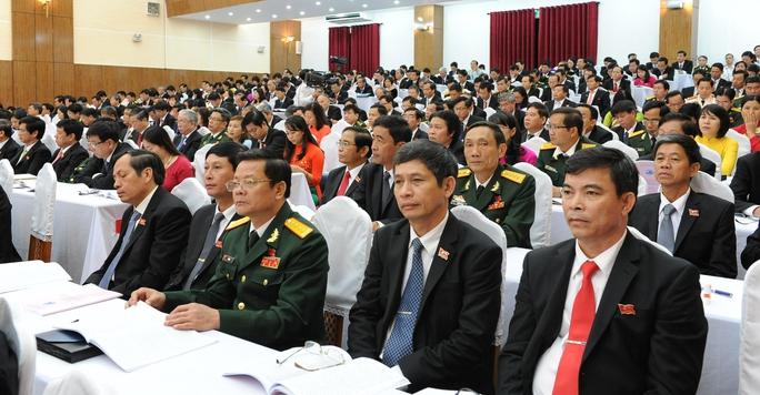 Các đại biểu tham dự Đại hội Đảng bộ thành phố Đà Nẵng lần thứ 20, nhiệm kỳ 2015 -2020