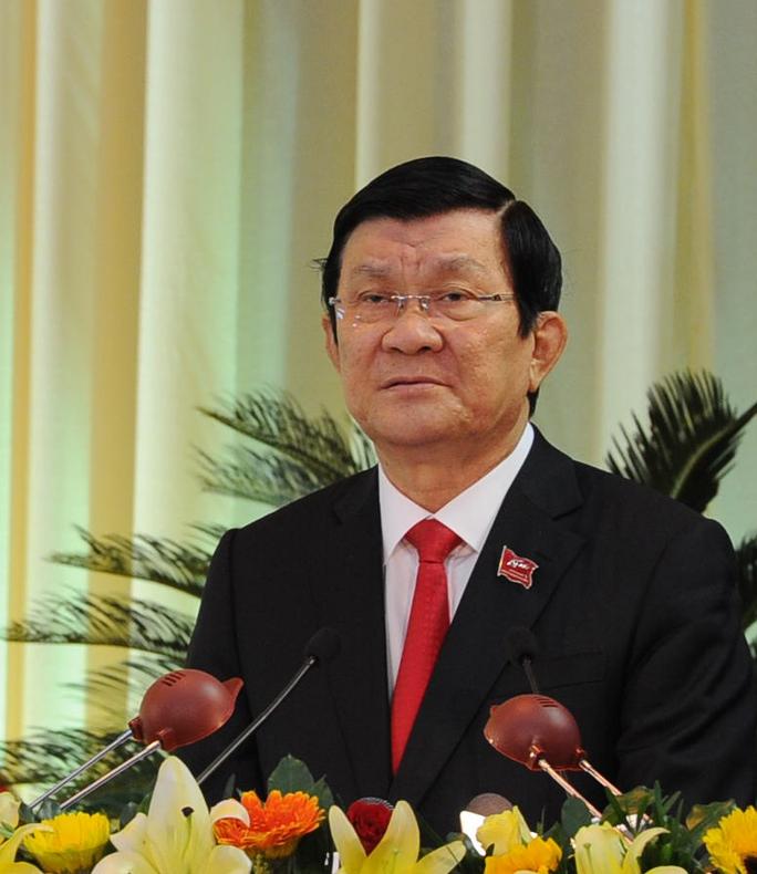Chủ tịch nước Trương Tấn Sang phát biểu chỉ đạo Đại hội Đảng bộ thành phố Đà nẵng lần thứ XXI, nhiệm kỳ 2015 - 2020.
