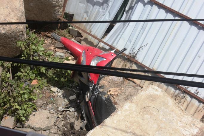 Vụ việc làm 5 xe máy bị hư hỏng