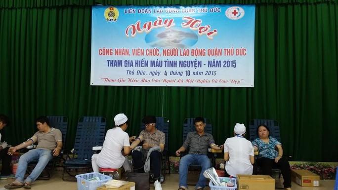 CNVC-LĐ tham gia Ngày hội hiến máu nhân đạo do LĐLĐ quận Thủ Đức, TP HCM tổ chức