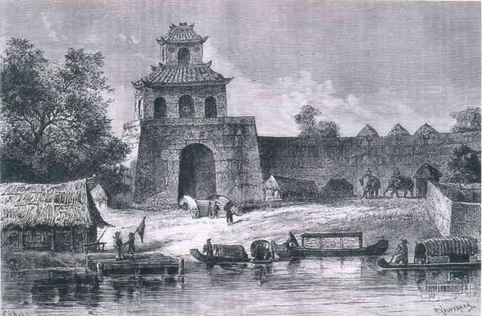 Cổng thành Phú Xuân thời Nguyễn sơ nhưng vua Quang Trung được cho là chưa từng ở đây. (Ảnh do Nguyễn Đắc Xuân sưu tầm).