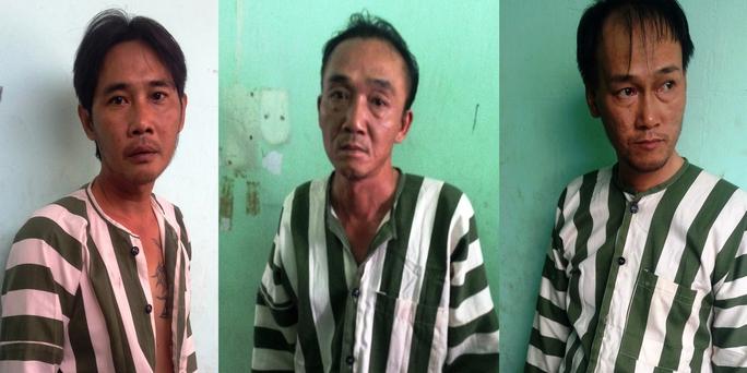 Từ trái qua phải: Trần Văn Quốc Hùng, Phan Ngọc Thạch và Đinh Thanh Tuấn