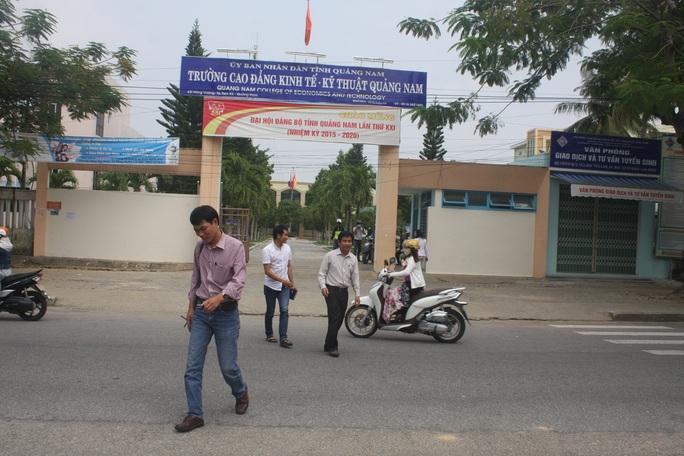 Trường CĐ Kinh tế kỹ thuật Quảng Nam không tuyển được sinh viên nên giảng viên chịu cảnh mất việc