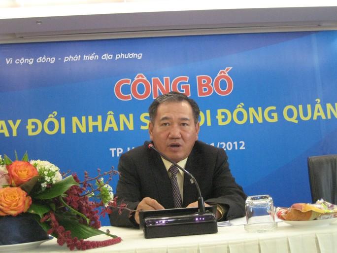 Ông Phạm Hữu Phú thôi giữ chức Tổng Giám đốc Eximbank từ ngày 10-12.