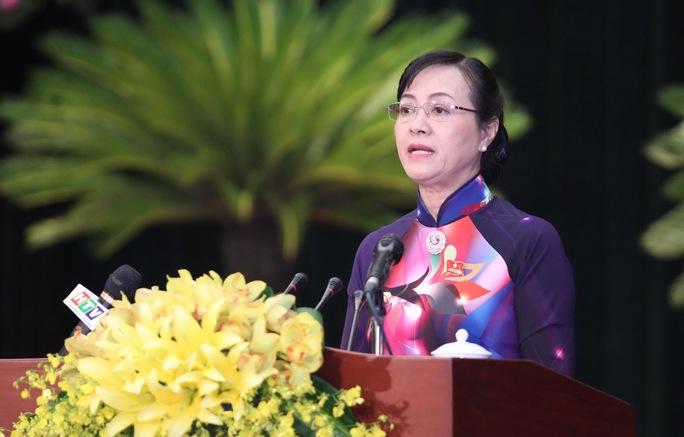 Bà Nguyễn Thị Quyết Tâm, Chủ tịch HĐND TP HCM phát biểu khai mạc