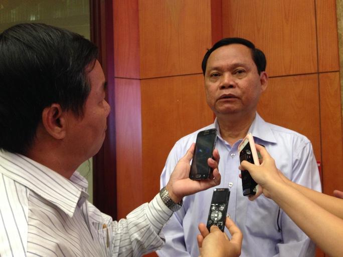 Tổng Thanh tra Chính phủ Huỳnh Phong Tranh trả lời báo chí sáng 24-12 (Ảnh: Phan Anh)
