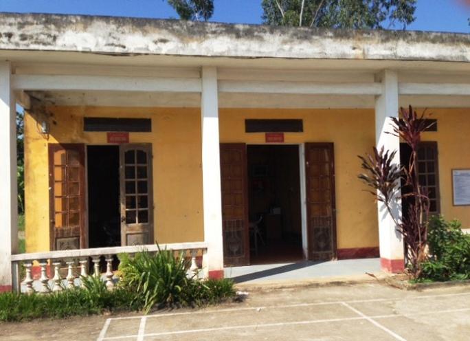 Khu vực Công sở xã Trường Minh, nơi Nguyễn Văn Hợp đã nhiều lần đưa chị T. tới để làm chuyện người lớn