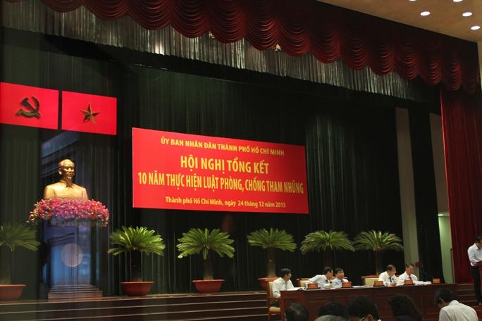 Hội nghị tổng kết 10 năm Luật Phòng chống tham nhũng sáng 24-12