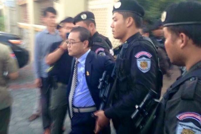 Ông Hong Sok Hour bị bắt hôm 15-8. Ảnh: FACEBOOK