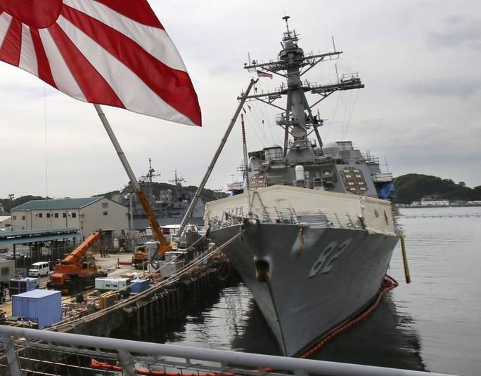Tàu USS Lassen nằm bờ tại tỉnh Kanagawa hồi năm 2014. Ảnh: AP