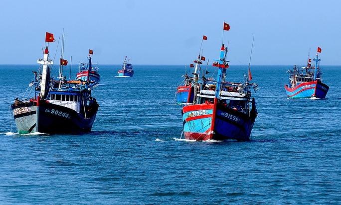 Đội tàu cá Lý Sơn vừa làm kinh tế vừa giữ gìn an ninh biển đảo. Ảnh: Lý Ái