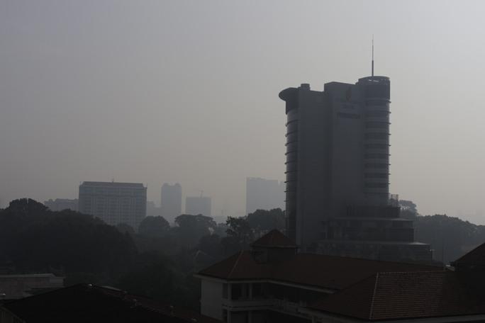 Khu vực trung tâm thành phố tình trạng mù khô còn nghiêm trọng hơn.