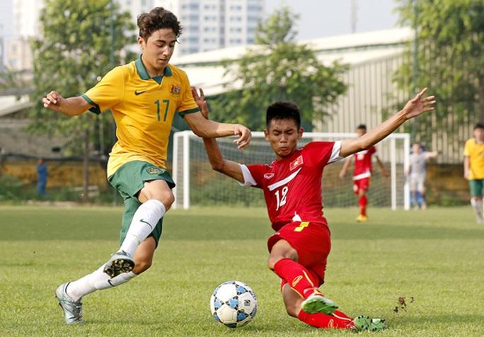 U16 Việt Nam trong trận thua Úc 0-1 chiều 20-9 Ảnh: VFF