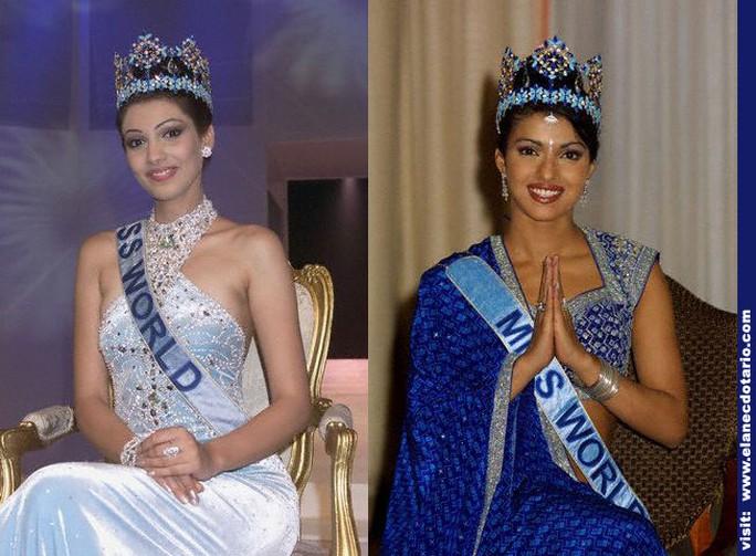 Thay vì phát sóng về Priyanka Choptra (phải)- Hoa hậu Thế giới năm 2000, chương trình Nightline lại đưa nhầm hình ảnh của Yukta Mookhey (trái) - Hoa hậu Thế giới năm 1999. Cả hai đều là những diễn viên Ấn Độ nổi tiếng.
