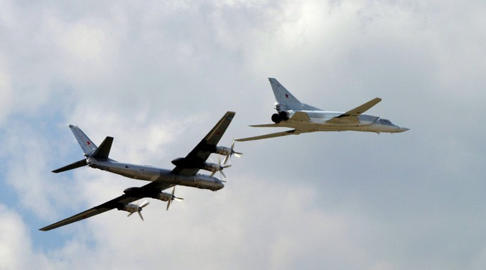 Máy bay ném bom chiến lược TU 95 và TU 22 của Nga đều đã tham gia không kích ở Syria. Ảnh: RIA Novosti