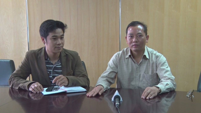 Ông Trần Văn Lâm, Vụ trưởng Vụ Tổ chức cán bộ (Bộ GTVT), trả lời PV về vụ việc