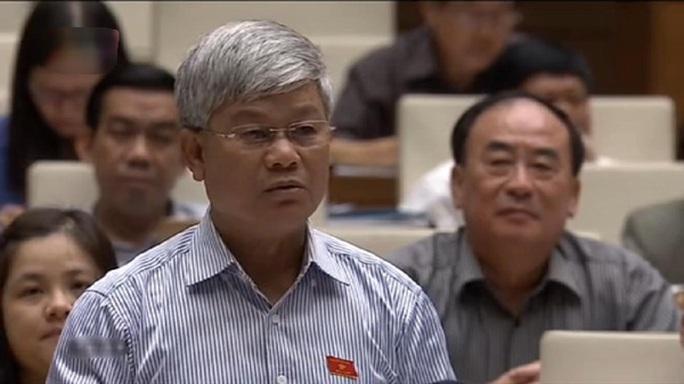 Đại biểu Nguyễn Anh Sơn (Nam Định) mở đầu phiên chất vấn - Ảnh chụp qua màn hình