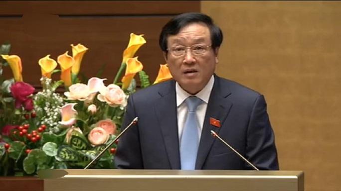 Viện trưởng Viện kiểm sát nhân dân tối cao Nguyễn Hòa Bình trình bày Báo cáo- Ảnh chụp qua màn hình