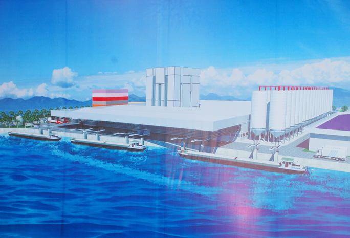 Lãnh đạo UBND các tỉnh và Tập đoàn Sao Mai động viên tinh thần đối với các công nhân xây dựng nhà máy.