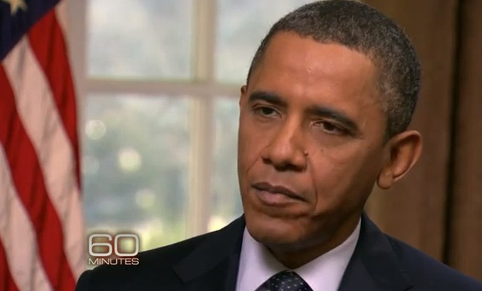 Ông Obama phát biểu trong chương trình 60 Minutes. Ảnh: 60 Minutes