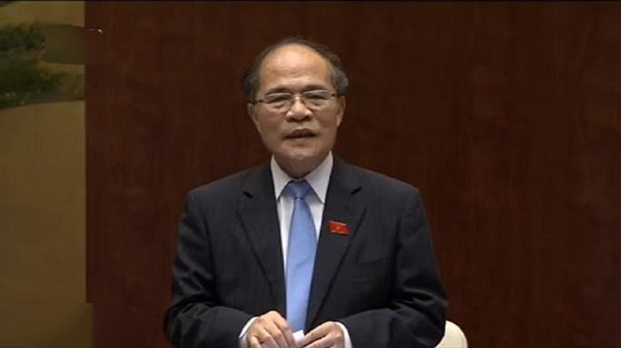 Chủ tịch Quốc hội Nguyễn Sinh Hùng phát biểu mở đầu phiên chất vấn và trả lời chất vấn