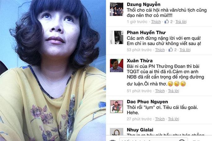 """Thêm một nhà thơ """"tố"""" Phan Huyền Thư """"đạo thơ""""!"""