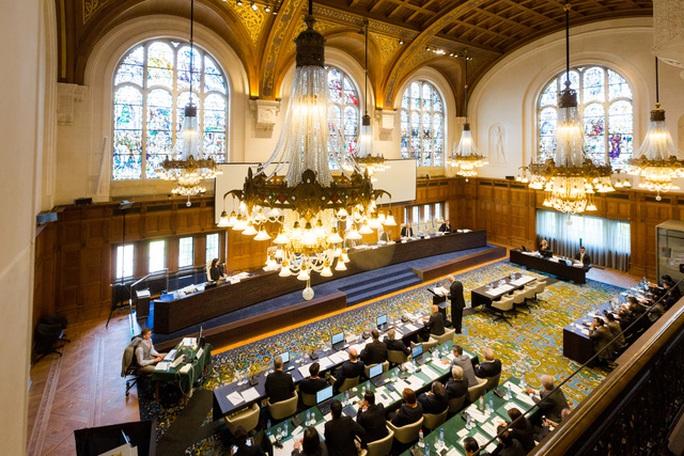 Quang cảnh tại Tòa án Trọng tài quốc tế. Ảnh: PCA