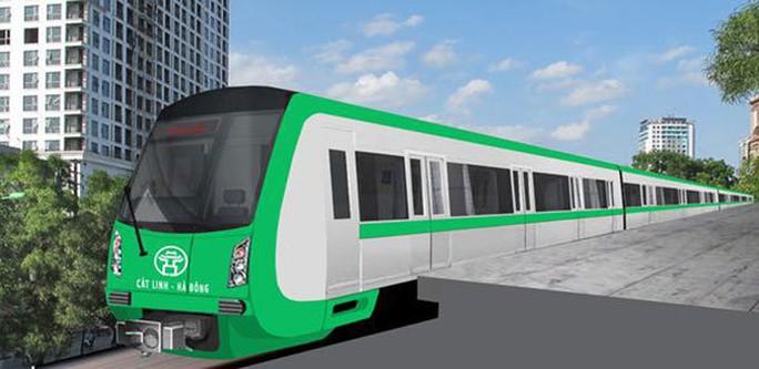 Mô hình tàu mẫu, dự án ĐSĐT Hà Nội, tuyến Cát Linh – Hà Đông. ảnh: Ban quản lý dự án Đường sắt.