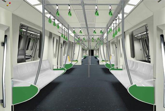 Màu sắc chủ đạo nội thất là màu ghi sáng. ảnh: Ban QL dự án đường sắt.