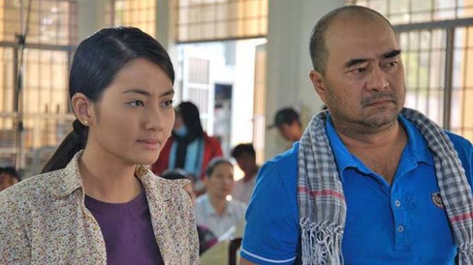 Đạo diễn Nhâm Minh Hiền và Ngọc Lan trên trường quay