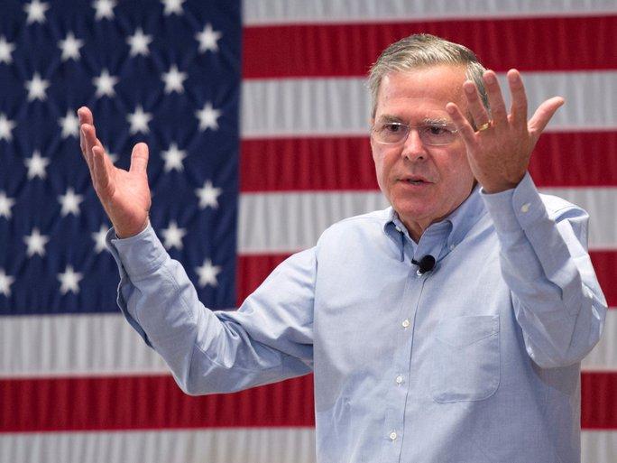 Ứng cứ viên tổng thống Mỹ Jeb Bush. Ảnh: Reuters
