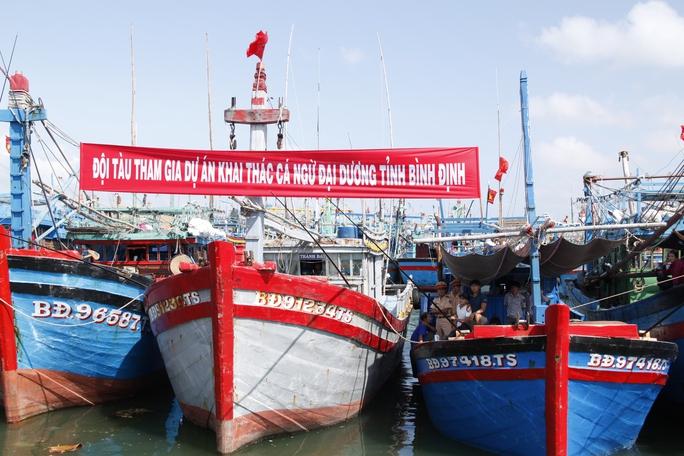 Tàu cá của ngư dân Bình Định tham gia khai thác cá ngừ đại dương bằng công nghệ và thiết bị Nhật