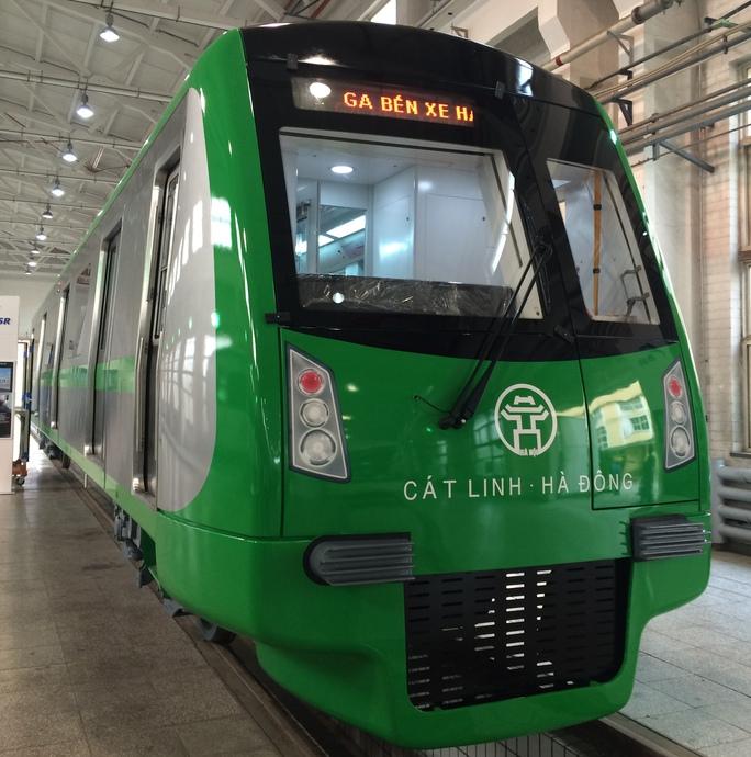 Mẫu tàu tuyến đường sắt đô thị tuyến Cát Linh-Hà Đông sẽ được đưa về Việt Nam để trưng bày vào nửa cuối tháng 10 tới đây - Ảnh: Kim Thành