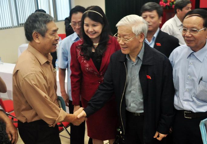 Tổng Bí thư Nguyễn Phú Trọng tiếp xúc cử tri quận Ba Đình, Hà Nội