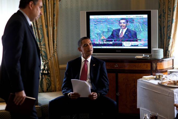 Tổng thống Mỹ Barack Obama trong một lần trú ngụ tại khách sạn Waldorf-Astoria. Ảnh: Nhà Trắng