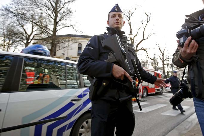 Dù vậy, an ninh ở Brussels vẫn thắt chặt. Ảnh: REUTERS