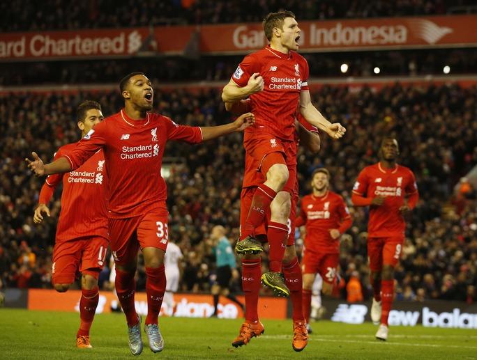 Liverpool đang thăng tiến nhanh chóng dưới sự dẫn dắt của HLV J.Klopp Ảnh: REUTERS