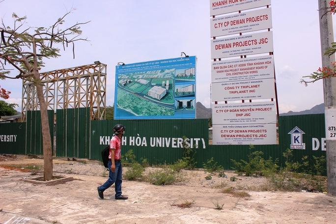 Dự án ĐH Khánh Hòa đìu hiu vì Tập đoàn Dewan không góp vốn điều lệ để thực hiện