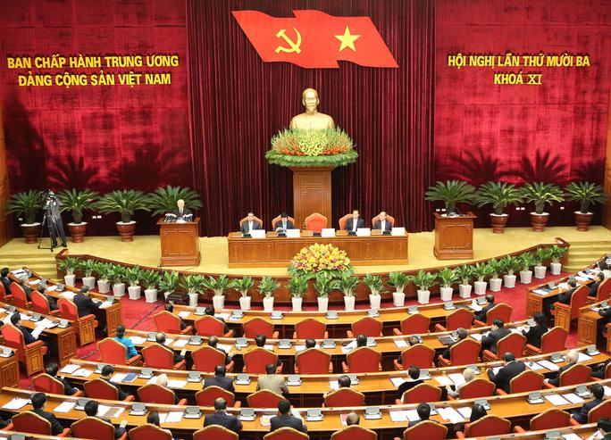 Toàn cảnh khai mạc Hội nghị lần thứ 13 Ban Chấp hành Trung ương Đảng khóa XIẢnh: TTXVN