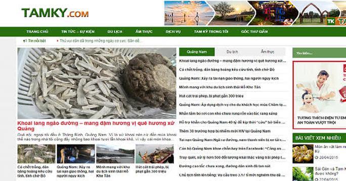 Trang tamky.com được lập với dạng blog nhưng chuyên ăn cắp tin bài của các báo chính thống Ảnh chụp màn hình