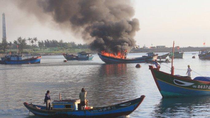 Một vụ nổ bình gas trên tàu cá ngư dân Lý Sơn trước đó - Ảnh tư liệu