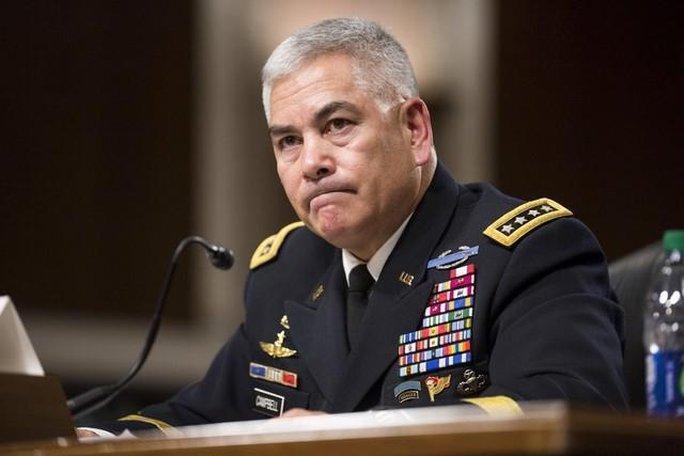 Cựu chỉ huy lực lượng quốc tế tại Afghanistan John F. Campbell. Ảnh: Reuters