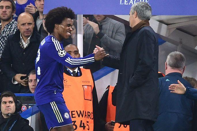 Willian được Mourinho tin dùng khi ông còn ở Chelsea