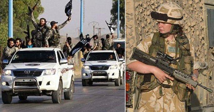 Nhiều nữ binh sĩ Anh đang chiến đấu chống IS tại Iraq và Syria. Ảnh: Reuters, Alamy
