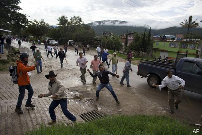 Một vụ bạo lực ở bang Guerrero hồi tháng 6-2015. Ảnh: AP